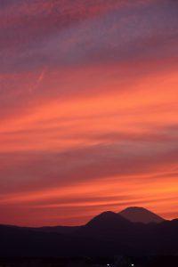 富士山の夕焼け 2017年9月13日撮影